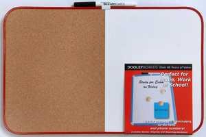 Dooleys 1117CO/MBV Vinyl Framed 11x17 in Combination Marker And Cork Board