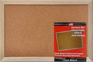 Dooleys 1218CO Wood Framed 11x17 in Cork Board