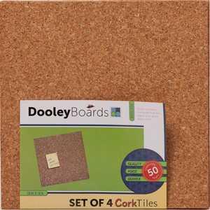 Dooleys 1212COTL-4 12x12 in Cork Tiles Pack of Four