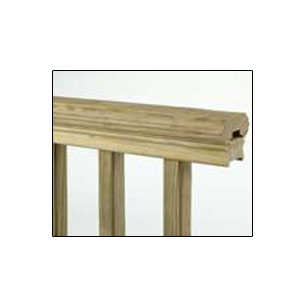 Universal Forest 106048 2x4 Deluxe Molded Deck Rail 8 Ft