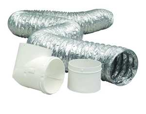 Dundas Jafine TD48D2D4 Pro Flex Connector Kit 4 In X8 Ft Duct-To-Duct
