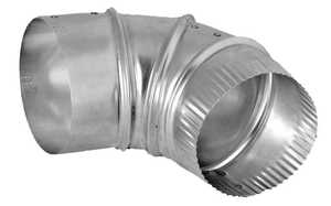 Dundas Jafine E4E24ZW Elbow 90d Adjustable 4 in Aluminum