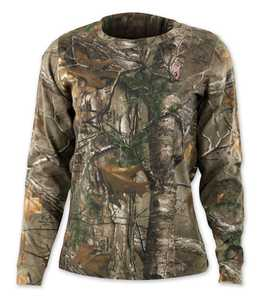 Browning 3014562404 Ladies Wasatch Long Sleeve T-Shirt RealTree Xtra XLarge