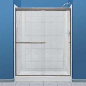 E L MUSTEE & SONS, INC 760T-30WHT Durawall Fiberglass Shower Tile Pattern Direct To Stud White