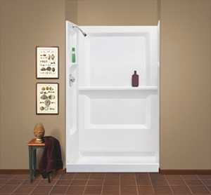 E L MUSTEE & SONS, INC 748-34WHT Durawall Shower Wall White