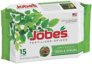 Easy Gardener 01610 Jobe's Tree & Shrub Fertilizer Spike 15pk