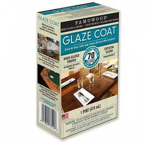 Eclectic Products 5050060 Famowood Interior Glaze Coat Epoxy Crystal Clear High Gloss Finish Pint