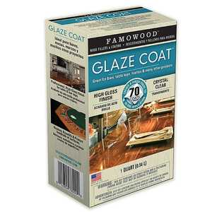 Eclectic Products 5050080 Famowood Interior Glaze Coat Epoxy Crystal Clear High Gloss Finish Quart
