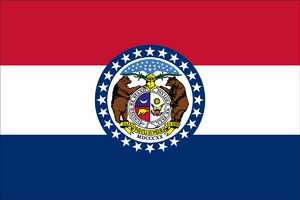 Eder Flag Co 89350 Flag State Missouri 3x5 Nylon