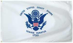 Eder Flag Co 460142 Coast Guard Flag 3 ft X5 ft