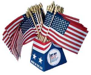 Eder Flag Co 89801-60 Us Flag 4x6 in Cotton Promotional Flag