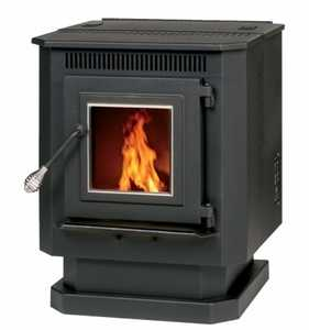 Nickel Trim Pellet Stove
