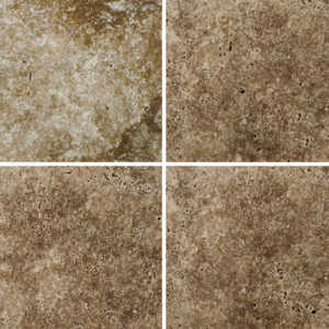 EMSER TILE T06FONTWA4 Trav Fontane Tumbled Walnut 4x4 in Natural Stone Tile