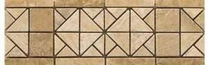 EMSER TILE T19FRE1MCO Trav Vino Tumbled Freisa Listello 4x12 in Natural Stone Decor Tile