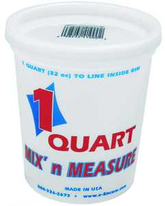 Encore Plastics 300407 Container Mix N Measure Qt