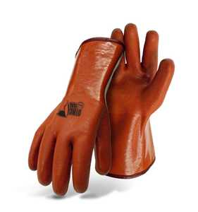 Boss Gloves 3600 Large Orange Foam PVC Gloves