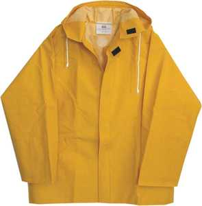 Boss Gloves 3PR0500YL Large Yellow Lined PVC Rain Jacket