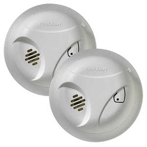 First Alert SA300CN2 General Smoke Alarm With Test Button Twin Pack