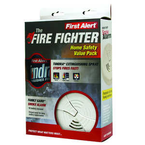 First Alert AF400-FG2 Tundra Extinguishing Spray Plus Family Gard Opp Smoke Alarm Value Pack