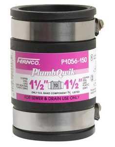 Fernco P1056-150/ 125 Coupling 1.25x1.5 Cast/Plastic/Copper