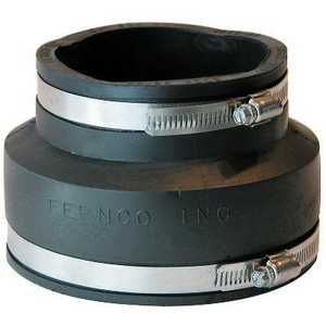 Fernco P1056-54 Coupling 5x4 Cast/Plastic/Copper To Same