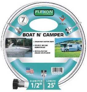 Flexon FAD1225 Boat & Camper Hose 1/2x25 4ply 7yr