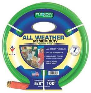 Flexon FAW58100 All Weather Garden Hose 5/8x100 4ply 7yr