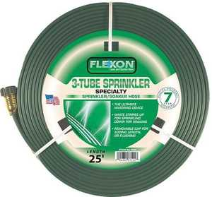 Flexon FS25 3-Tube Sprinkler Hose 25 ft