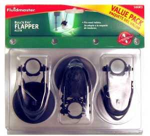 Fluidmaster 500R3P8 Toilet Flapper Bullseye 3pk