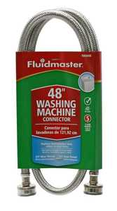 Fluidmaster 9WM48 Washing Machine Hose 48 in Slv 3/4 in