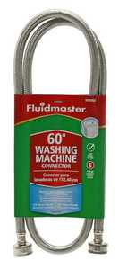 Fluidmaster 9WM60 Washing Machine Hose 60 in Slv 3/4 in
