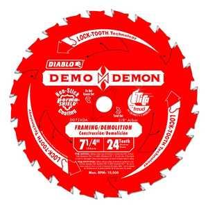 Freud D0724DA 7-1/4-Inch 24-Tooth Diablo Demo Demon Framing/Demolition Saw Blade