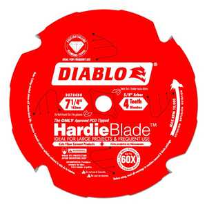 Freud D0704DH 7-1/4 in 4 Tooth Diablo Pcd Fiber Cement HardieBlade