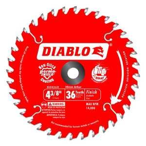 FREUD D0436X 4-3/8 in 36 Tooth Diablo Cordless Trim Saw Blade