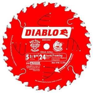 FREUD D0524X 5-3/8 in 24 Tooth Diablo Framing Trim Saw