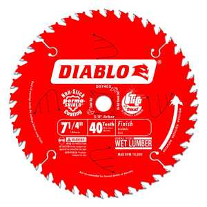 FREUD D0740X 7-1/4 in 40 Tooth Diablo Finish Saw Blade