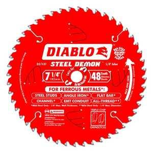 FREUD D0748F 7-1/4 in 48 Tooth Diablo Steel Demon Metal Cutting Saw Blade