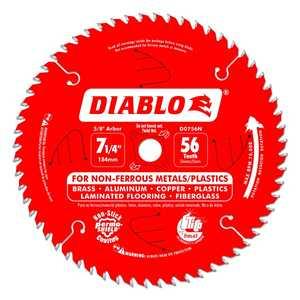 FREUD D0756N 7-1/4 in 56 Tooth Diablo Non Ferrous Metals/Plastics Saw Blade