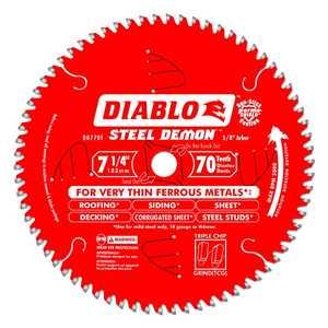 Freud D0770F 7-1/4-Inch 70-Tooth Steel Demon Metal Cutting Saw Blade