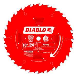 FREUD D1024X 10 in 24 Tooth Diablo Ripping Saw Blade