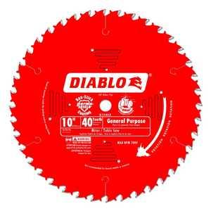 FREUD D1040X 10 in 40 Tooth Diablo General Purpose Saw Blade