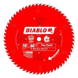FREUD D1060X 10 in 60 Tooth Diablo Fine Finish Saw Blade
