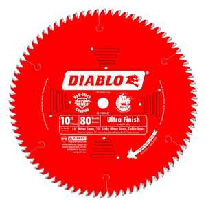 FREUD D1080X 10 in 80 Tooth Diablo Ultra Finish Saw Blade