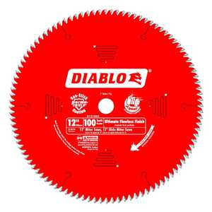FREUD D12100X 12 in 100 Tooth Diablo Ultimate Flawless Finish Saw Blade
