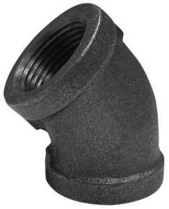 JMF Company 3529016169883 Elbow 45d 1 in Black