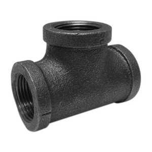 JMF Company 3546006060686 Tee 3/8 Black