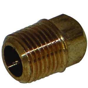 JMF Company LF3914702989813 1/8 MIP SQURARE HEAD CORED PLUG BARSTOCK LEAD FREE