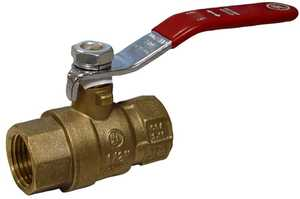 JMF Company LF5781206069863 3/8 FIP X 3/8 FIP FULL PORT BALL VALVE LEAD FREE