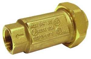 JMF Company LF8385216169883 1 FIP X 1 FIP DUAL CHECK BACK FLOW LEAD FREE BIN