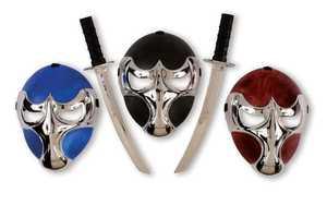 Fun World 93314 Raven Ninja Chrome Mask & Sword Set